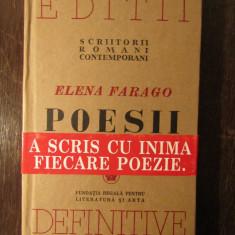 POEZII -ELENA FARAGO - Carte poezie