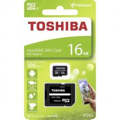 Card MicroSD 16GB + Adaptor (Clasa 10) M203 Toshiba