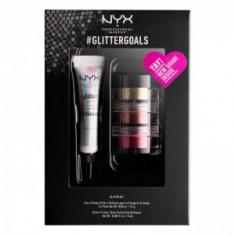 Set 3 Nuante Glitter Nyx Professional GlitterGoals 02 10 gr - Trusa machiaj