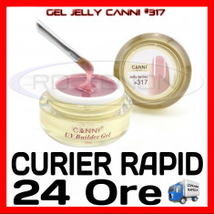 GEL UV COVER CANNI JELLY SERIES #317, 15 ML  - CONSTRUCTIE MANICHIURA, UNGHII UV