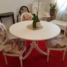 Masa lemn masiv si scaune - Masa bucatarie