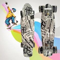 Penny Board 56 cm Roti Silicon Cu Lumini - Skateboard, Marime: 22