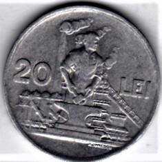20 lei 1951 a.UNC/UNC RPR (5) - Moneda Romania, Aluminiu