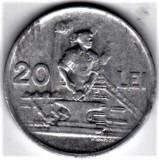20 lei 1951  XF/a.UNC  RPR (11), Aluminiu