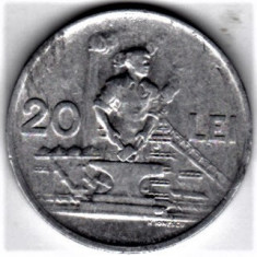20 lei 1951 XF/a.UNC RPR (11) - Moneda Romania, Aluminiu