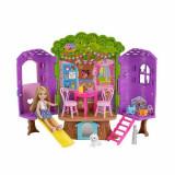Jucarie Clubul Barbie Chelsea si casuta din copac FPF83 Mattel