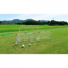 Set porti fotbal 2 in 1 124x73x64 si 184x124x64 cm + 2 mingi