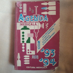 Agenda medicala 93-94