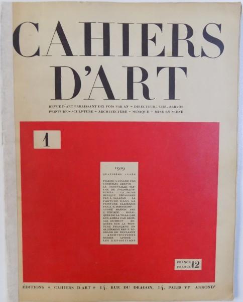 CAHIERS D 'ART - REVUE D' ART PARAISSANT DIX FOIS PAR AN - QUATRIEME ANNEE , No . 1 , 1929 foto mare