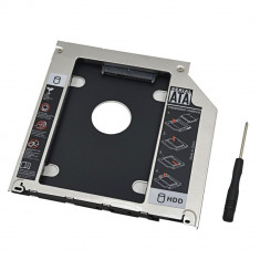 Adaptor caddy suport HDD/SSD unitate optica 9.5mm pt Apple Macbook Pro - Suport laptop