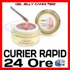 GEL UV COVER CANNI JELLY SERIES #322, 15 ML  - CONSTRUCTIE MANICHIURA, UNGHII UV