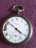 """Ceas vechi de buzunar Elvetian din argint marca """"LONGINES"""""""