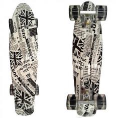 Penny Board Roti Silicon Lumini 56cm - Skateboard, Marime: 22