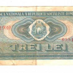 SV * Romania  3  LEI  1966     RELATIV  RARA  !