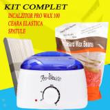 Cumpara ieftin Kit epilare incalzitor ceara elastica spatule