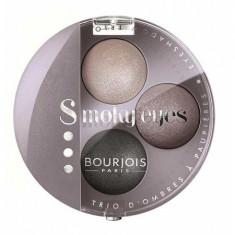 Paleta 3 Farduri Bourjois Smoky Eyes - 12 Gris Lilac, 4.5 gr