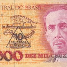 BRAZILIA 10 cruzados novos on 10.000 cruzados 1990 XF!!! - bancnota america