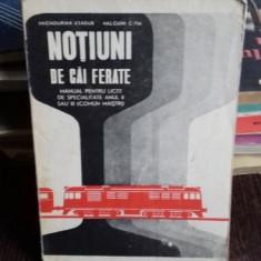 NOTIUNI DE CAI FERATE - HACIADURIAN ASADUR