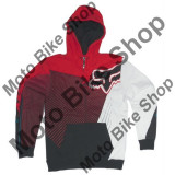 MBS FOX ZIP HOODY FLIGHT, red, L, Cod Produs: 08170003LAU