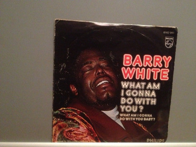 BARRY WHITE - WHAT AM I GONNA DO....(1975/PHILIPS/W. Germany) - VINIL Single/ foto