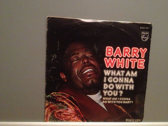BARRY WHITE - WHAT AM I GONNA DO....(1975/PHILIPS/W. Germany) - VINIL Single/