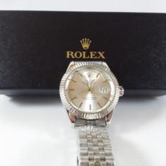Rolex Oyster mecanic-automatic argintiu NOU elegant metalic - Ceas barbatesc, Casual, Otel, Data, Analog