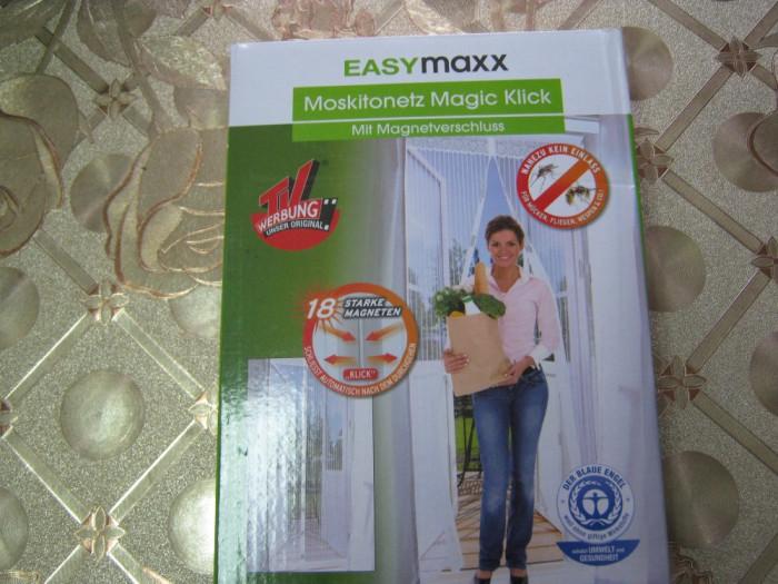Plasă de țânțari Magic Click, 90 x 210 cm, în alb cu închidere magnetică foto mare