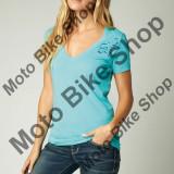 MBS FOX GIRL T-SHIRT RISER V-NECK NLB!!!, blue atoll, DM, Cod Produs: 14556468MAU, Maneca scurta