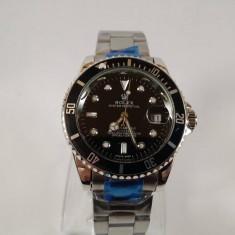 Rolex Submariner mecanic-automatic argintiu NOU elegant metalic - Ceas barbatesc, Casual, Otel, Data, Analog