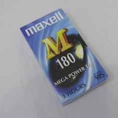 Caseta video VHS Maxell 180 minute - sigilata