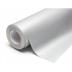 Folie Auto Carbon Argintiu 127CM - Folii Auto tuning