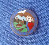 Insigna RPR - 1957 - Regiunea Craiova - Festivalul tineretului