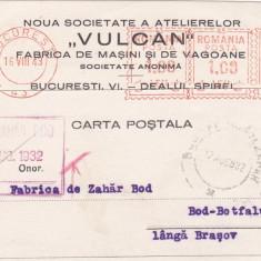 PERFIN,BUCURESTI,FABRICA DE VAGOANE VULCAN,1932 ROMANIA.