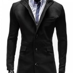 Jacheta pentru barbati, croi slim fit, inchidere 3 nasturi, negru - VICTOR