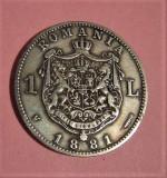 V- 1 leu 1881! superb, Argint