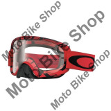 MBS OAKLEY MX BRILLE O2 INTIMIDATOR BLOOD RED, rot, klar, Cod Produs: 706806AU
