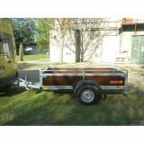 Remorca auto 1300 kg Niewiadow cu dim 245x132 cm, 6 RATE Fara Dobanda, cu RAR