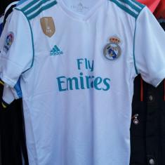Tricou Real Madrid Alb Nou : Nr. S, M, L, XL, XXL - 2017/2018 - Tricou echipa fotbal, Marime: L, M, S, De club, Maneca scurta