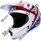 MBS FOX MTB HELM RAMPAGE, white-blue-red, S=55-56, Cod Produs: 12394008SAU, Casti bicicleta