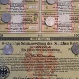 1 Milion Marci titlu de stat neincasat cu cupoane Germania 1924