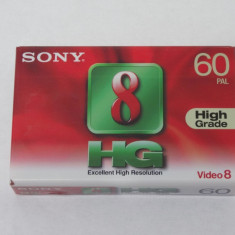 Caseta video SONY Video 8 HG 60 minute PAL - sigilata, Altul