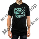 MBS FOX T-SHIRT SCRIPTED, black, XL, Cod Produs: 16484001XLAU, Maneca scurta