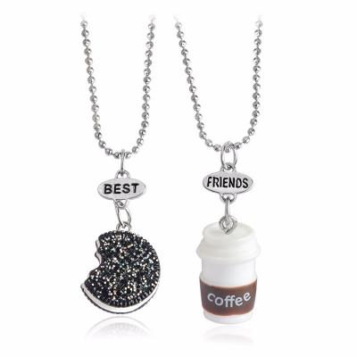 Lant Lantisor Pandantiv BFF Colier BEST FRIENDS forever OREO & COFFEE - 2Buc/set foto
