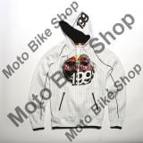 MBS Bluza cu gluga Fox Zip Red Bull Travis Pastrana 199, alb, L, Cod Produs: 45345008005AU