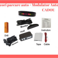 Senzori Auto De Parcare cu Ecran LCD si Semnal Acustic - Buzzer