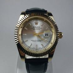 Ceas Rolex Oyster auriu barbatesc NOU elegant piele - Ceas barbatesc, Casual, Quartz, Otel, Metal necunoscut