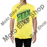 MBS FOX T-SHIRT STATIC, blazing yellow, M, Cod Produs: 16499366MAU, Maneca scurta