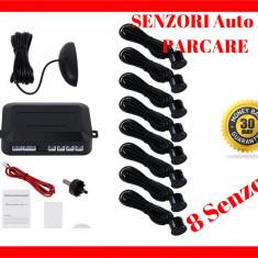 8 Senzori Auto De Parcare cu Ecran LCD si Semnal Acustic - Buzzer - Fata + Spate