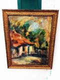 Tablou scoala Baia Mare, Peisaje, Ulei, Realism
