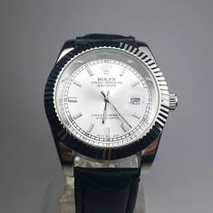 Ceas Rolex Oyster argintiu barbatesc NOU elegant piele - Ceas barbatesc, Casual, Quartz, Otel, Metal necunoscut